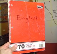 a notebook to help with the best way to learn English online