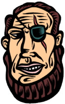 man with eyepatch