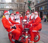 santas on bike