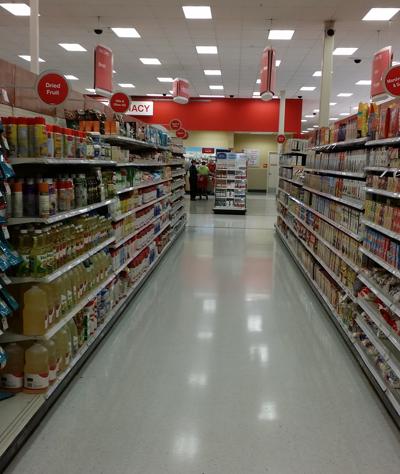 aisle in Target