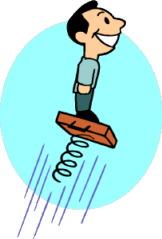 man on springboard