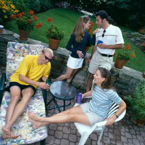 people in the backyard