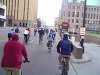 biking in Minneapolis