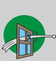 break a window
