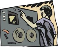 button on a machine