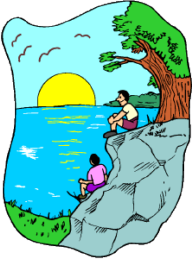people sitting on a cliff