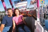couple on ferris wheel