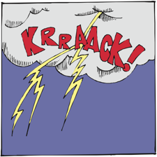lightning crack