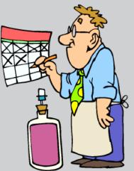 man at calendar