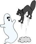 ghost and cat