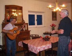guitar and singing