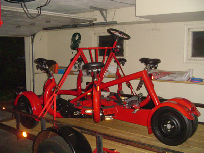 bike on a trailer