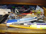 inside desk