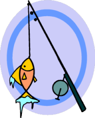 fish on fishing line