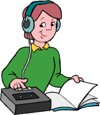 student listening