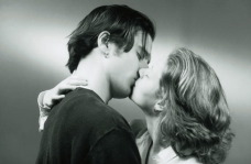 woman kissing