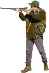 man shooting