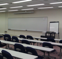 no one in the classroom