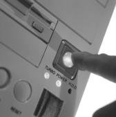 pressing a button