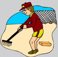 rake sand