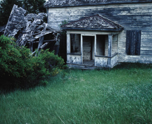 a neglected house