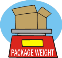 scale for weighing packages