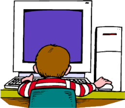kid in front of screen