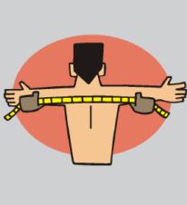 shoulders measured