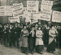 workers on strike