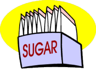 packets of sugar