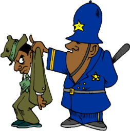 police officer with criminal