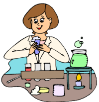 woman working with chemicals