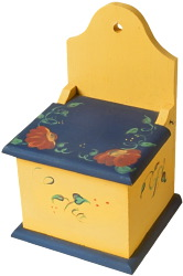 yellow box with blue lid
